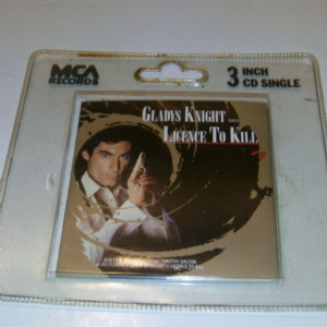 License to kill 007 Movie Gladys Kight 3inch CD Single in MCA Records Hangar